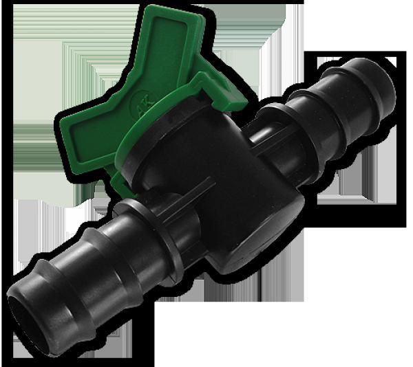 Кран (с зубом) для капельной трубки - 16 мм