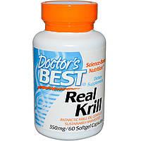Жир (масло) криля Doctor's Best 350 мг 60 капсул