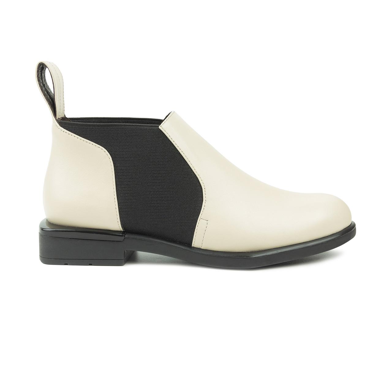 Ботинки челси молочные (О-856)