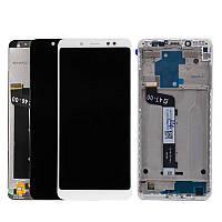 Дисплей модуль для Xiaomi Redmi Note 5/ Redmi Note 5 Pro, белый, с передней панелью Высокое качество