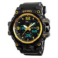 ➀Часы SKMEI 1155B Gold круглый двойной дисплей электронные влагозащищенные часы с указателем для спортсменов