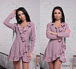 Женское платье на запах с рюшами (в расцветках), фото 4
