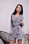 Женское платье на запах с рюшами (в расцветках), фото 6