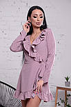 Женское платье на запах с рюшами (в расцветках), фото 8