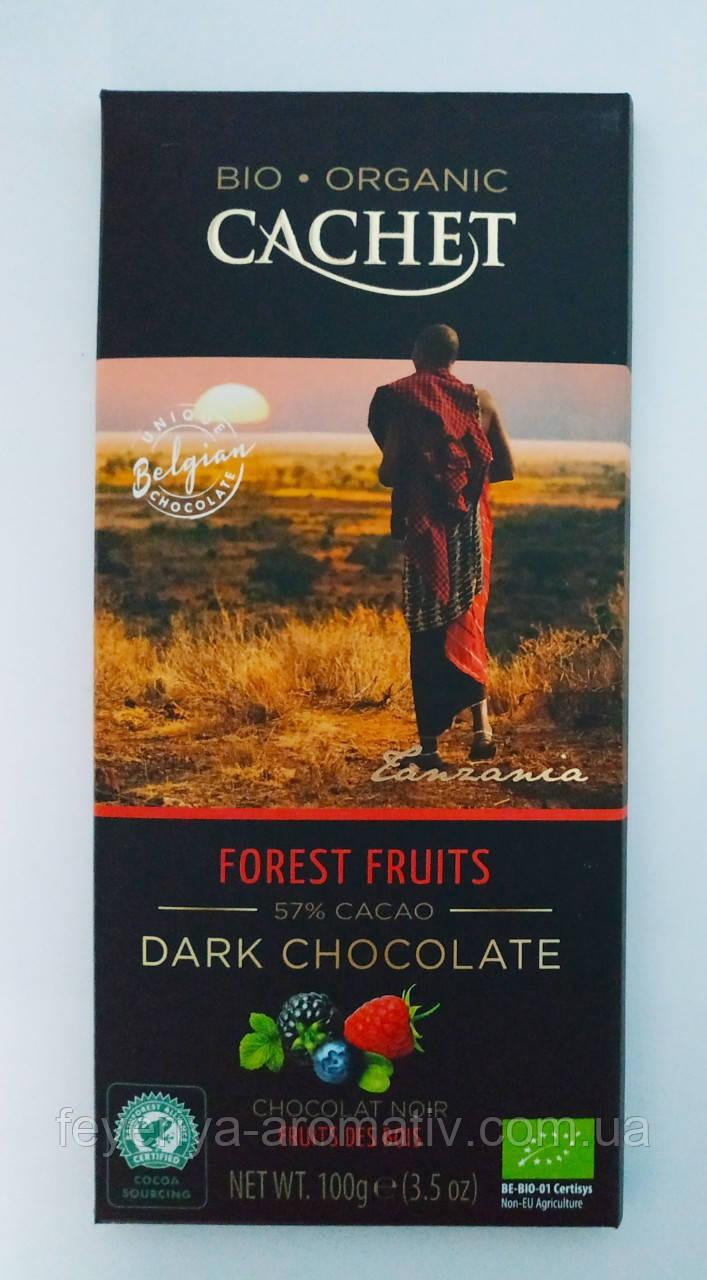 Черный шоколад Cachet bio organic 57% какао, 100гр (Бельгия)