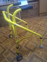 Ходунки складные, регулируемые по высоте, на 2-х колесах для детей НТ-03-009 (ХД-3С)