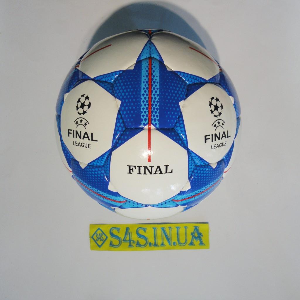 Мяч футбольный №4 FN, бело-синий, р.4, ламинированный