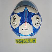 Мяч футбольный №4 FN, бело-синий, р.4, ламинированный, фото 1