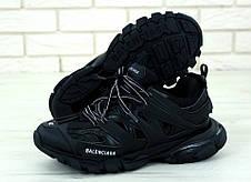 Мужские кроссовки в стиле Balenciaga Track Trainers All Black, фото 2