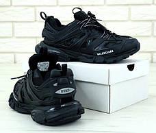 Мужские кроссовки в стиле Balenciaga Track Trainers All Black, фото 3