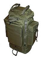 Тактический туристический армейский супер-крепкий рюкзак 100 л олива. Кордура 500 ден. Армия, рыбалка, туризм