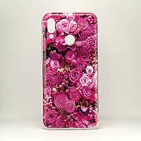 Чехол Print  для Honor 10 Lite / HRY-LX1 силиконовый бампер Roses