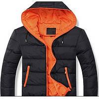 Мужская  куртка с капюшоном на синтепоне весна осень