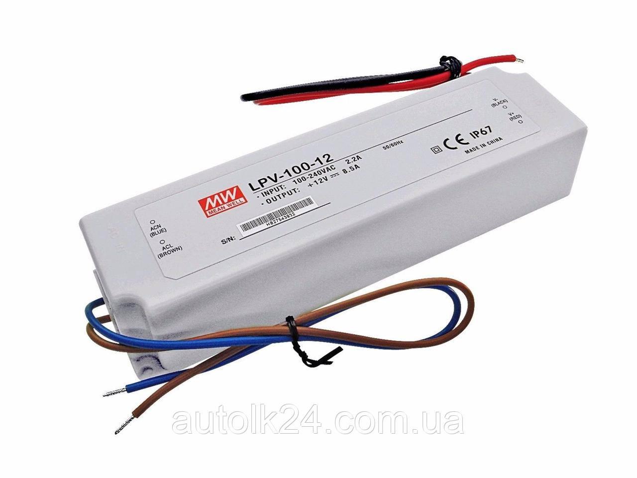 Блок живлення MW Mean Well LPV - 100W-12V-8,5 A - IP67 герметичний