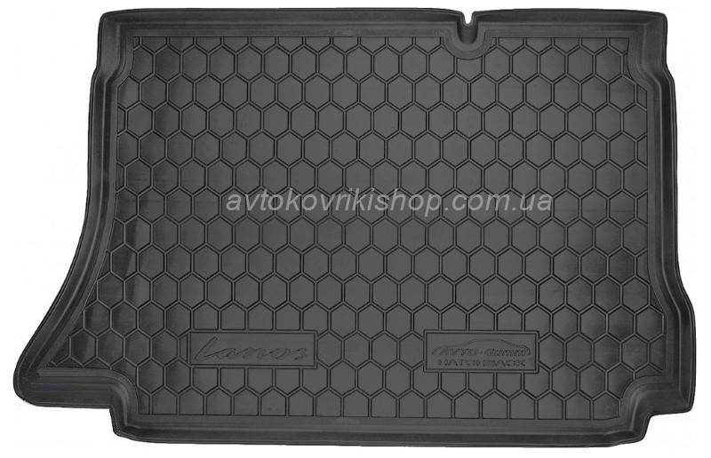 Резиновый коврик багажника Daewoo Lanos 1997- (хетчбек) Avto-Gumm