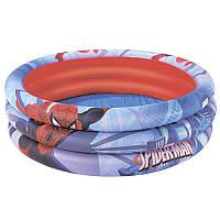 Детский надувной бассейн круглый Спайдермен (Человек Паук spider man), 122 - 30см, 236 л,bestway 98018