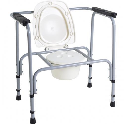 Стілець туалетний алюмінієвий регульований - НТ-04-010