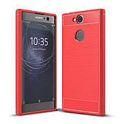 Чехол силиконовый TPU на Sony XA2 красный