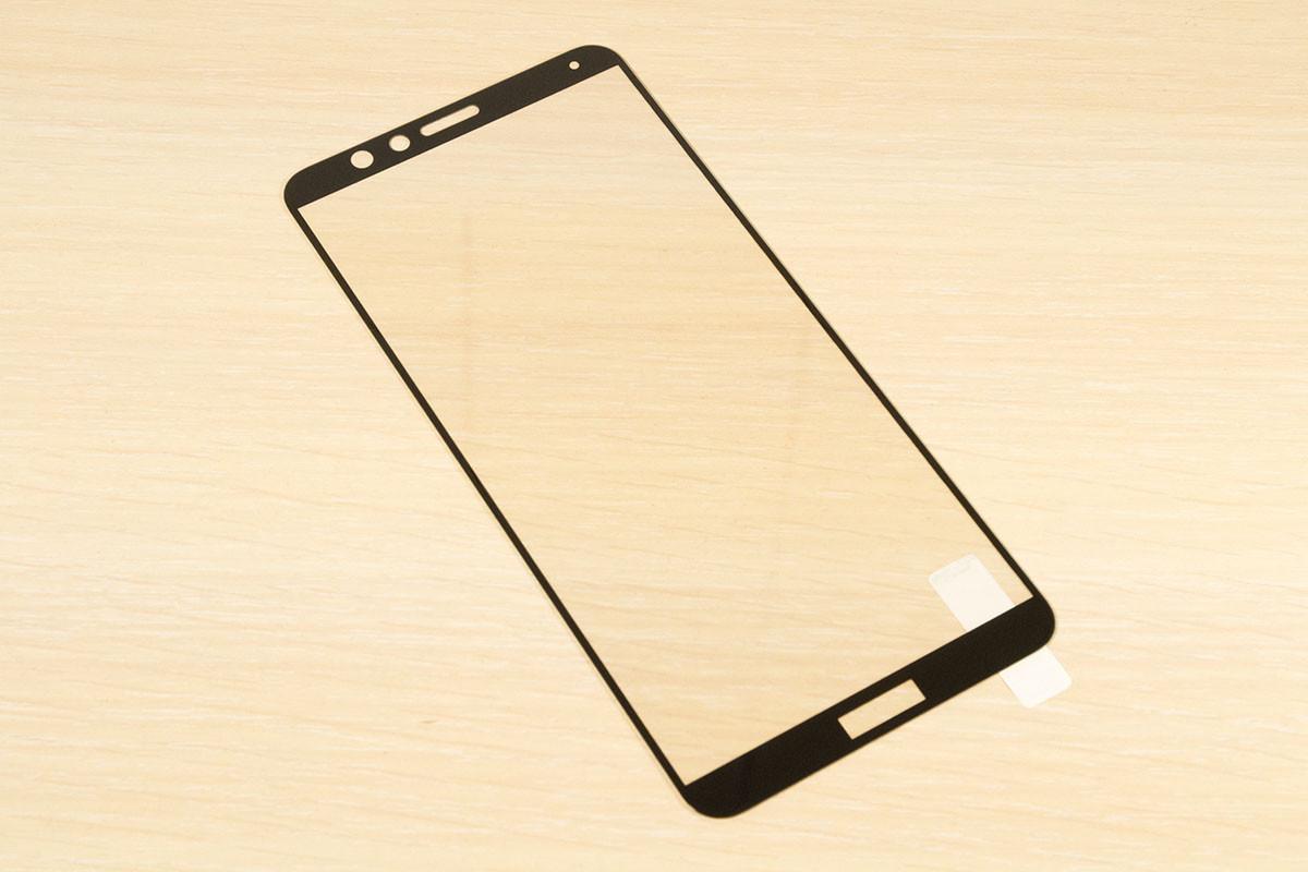 Защитное стекло Silk Screen для Huawei Honor 7X тех.пакет (Black)