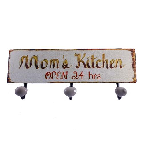 Вешалка тройная «Mom's Kitchen», прямоугольный, метал