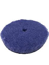 Полировальный круг з центральным отверстием гибридная шерсть - Lake Country Blue Hybrid Wool 150 мм (HYB-159)