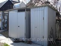 Бытовка туалет, санитарный модуль на стройку, санблок бытовка