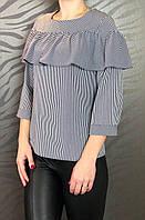 Женская блузка волан в полоску
