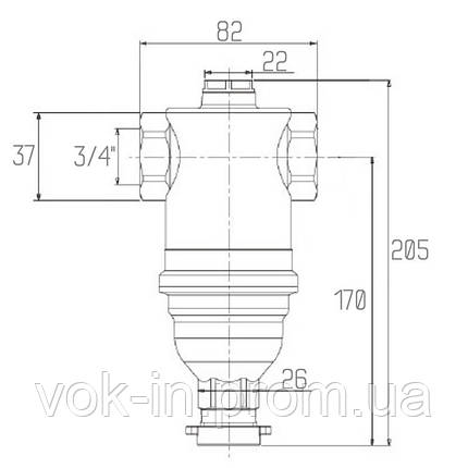 """Самопромывной фильтр для закрытых систем отопления 3/4"""" ICMA №745, фото 2"""