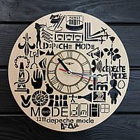 Оригинальные настенные часы из дерева «Depeche Mode», фото 1