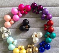 Серьги пуссеты Dior 013083, в разных цветах