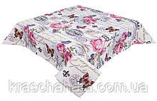 Скатерть гобеленовая с принтом, Винтаж, 137х180 см, Эксклюзивные подарки, Столовый текстиль