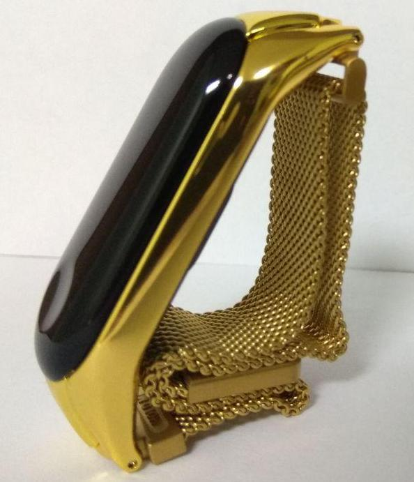Стальной ремешок для Xiaomi Mi Band 3 - Milanese Design gold