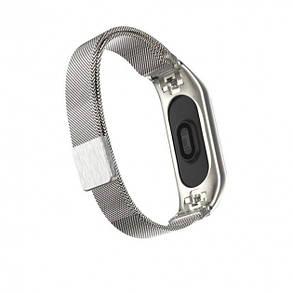 Стальной ремешок для Xiaomi Mi Band 3 Milanese Loop silver, фото 2