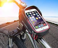 Велосумка на раму с отделом для смартфона и козырьком, фото 1