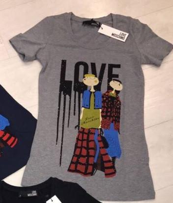 82c64f78c40 Женская футболка в стиле Москино НП-448. 410 грн. Показать оптовые цены