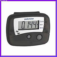 Шагомер,педометр, электронный цифровой шагомер со счетчиком каллорий,растояния, фото 1