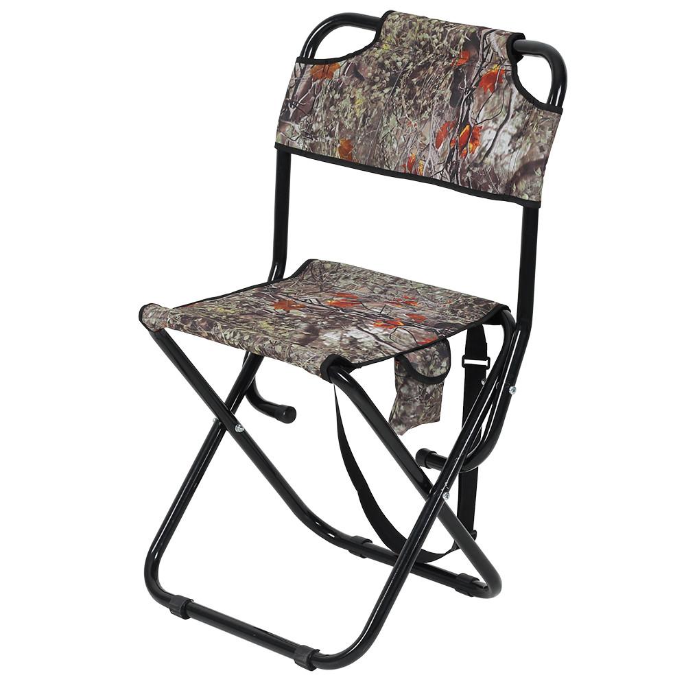 """Крепкий раскладной стул со спинкой """"Богатырь"""", d22 мм, до 140 кг"""