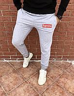 Мужские спортивные весенние штаны, чоловічі штани Supreme (серый), Реплика