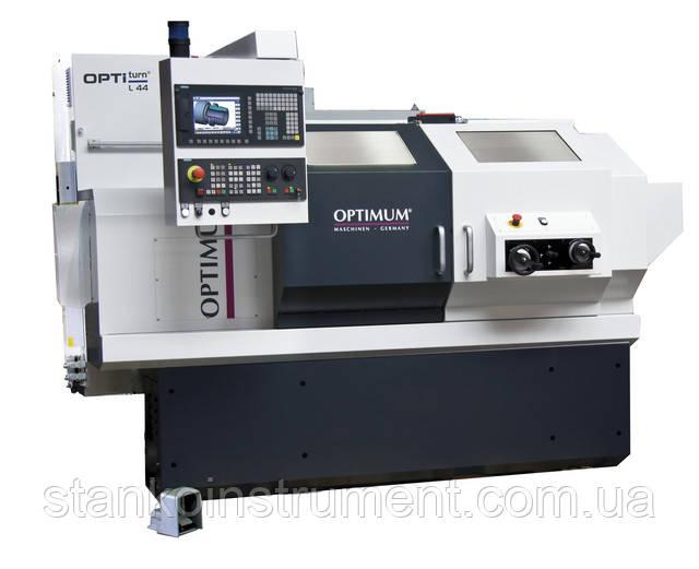 Токарный станок по металлу ЧПУ Optimum OPTIturn L 44