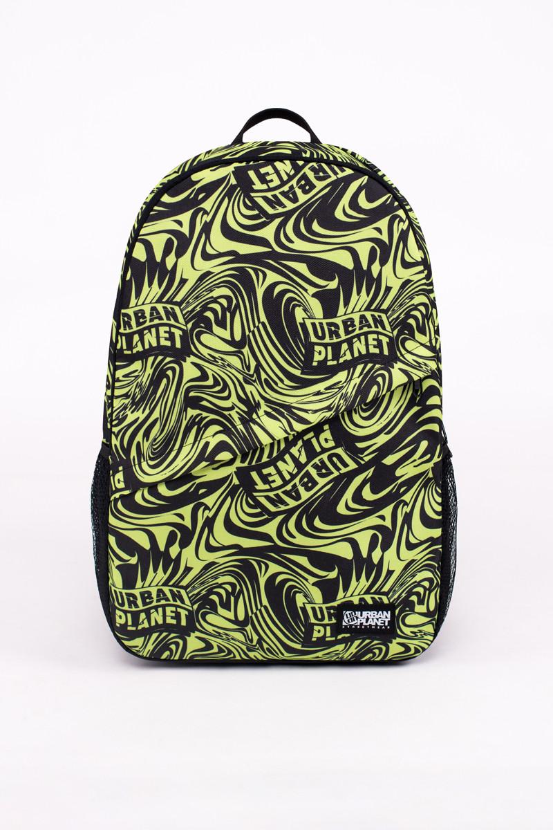 Спортивний рюкзак шкільний Urban Planet B8 SPLASH LIME 30л. 45x29.5x13см. чорно-жовтий