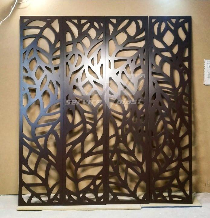 Интерьерная перегородка Листья, ширма для дома, декоративная панель, деревянные экраны