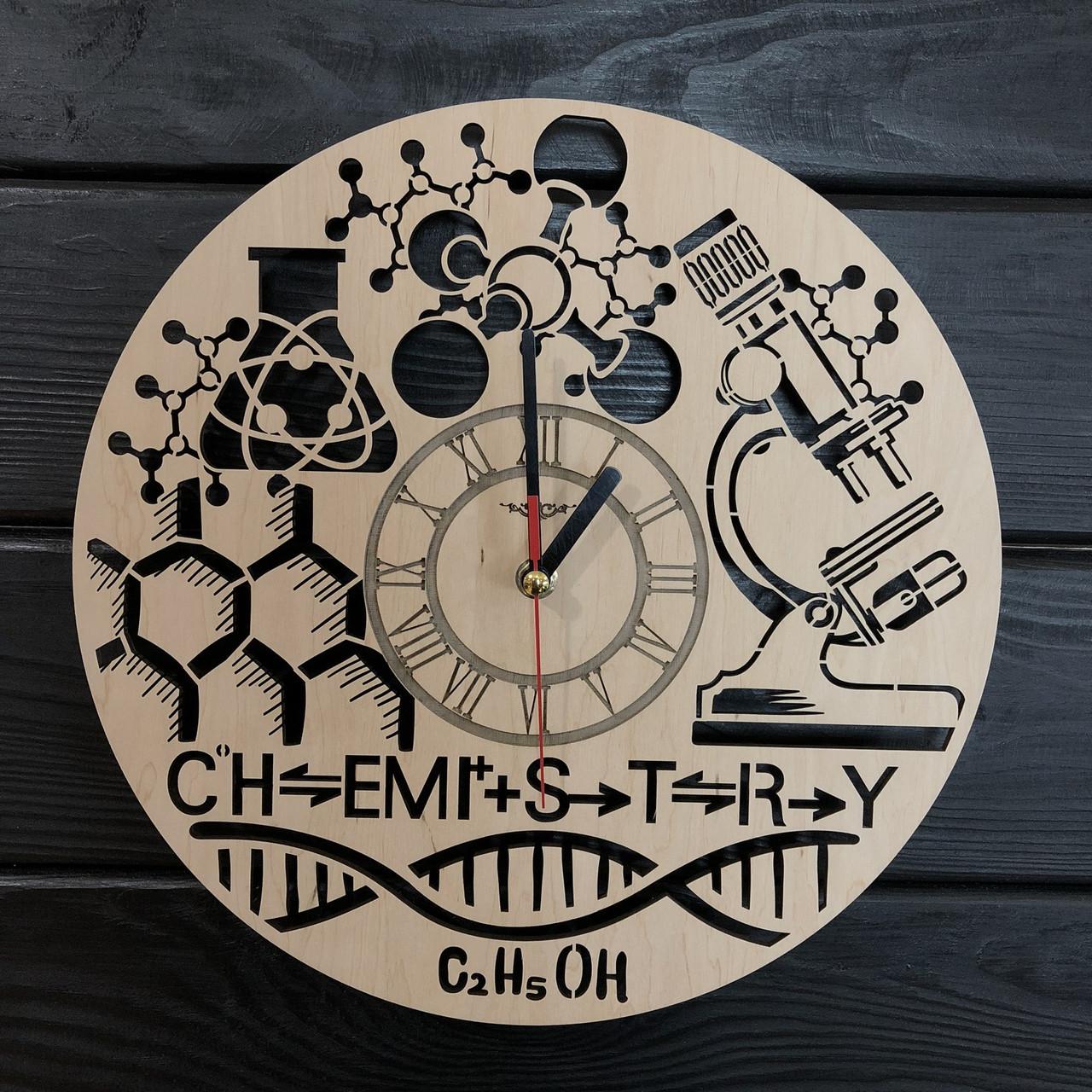 Тематические интерьерные настенные часы «Химия»