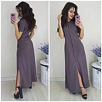 Платье- рубашка женское длинное , фото 1