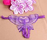 Фиолетовые трусики украшены бабочкой, фото 5