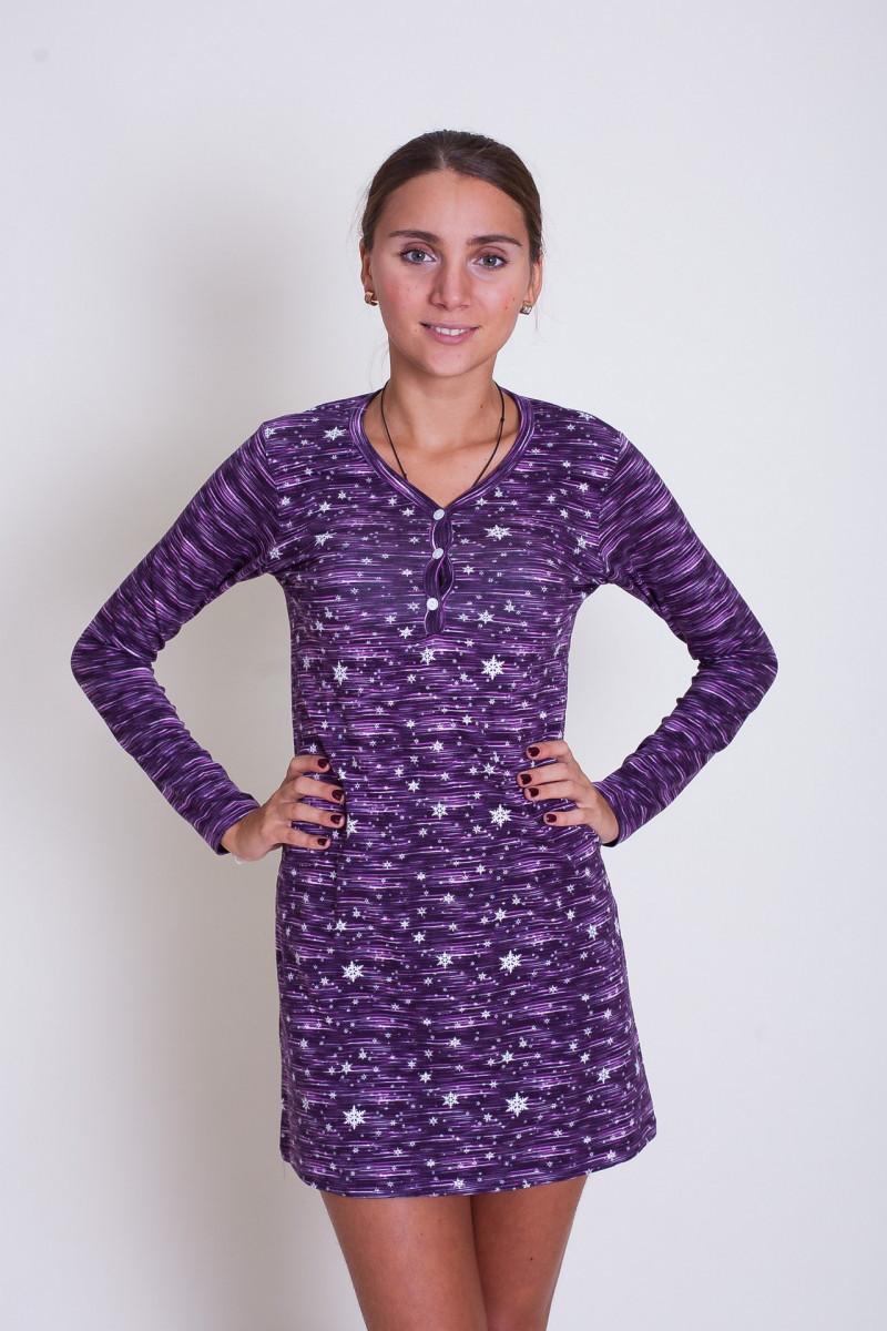 Сорочка женская для сна и дома  с длинным рукавом Nicoletta