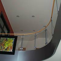 Перила нержавеющая сталь со стеклом, фото 1