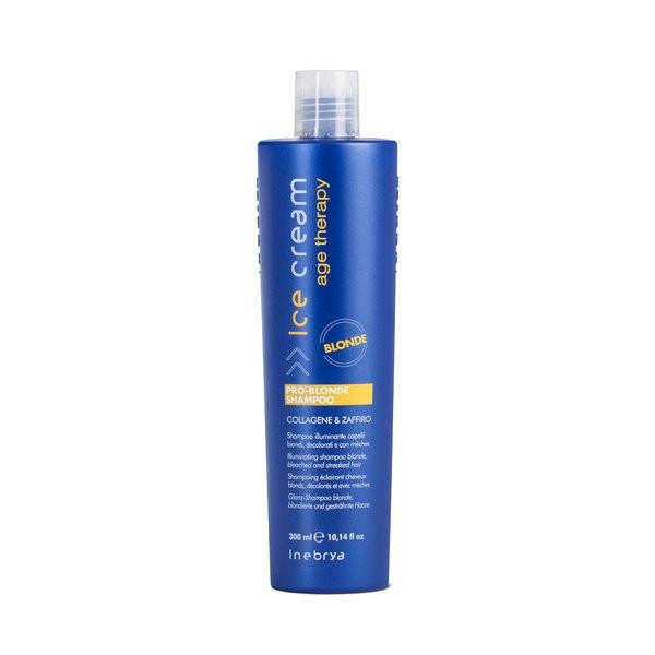 Шампунь для осветленных и мелированных волос Inebrya Pro-Blonde 300ml