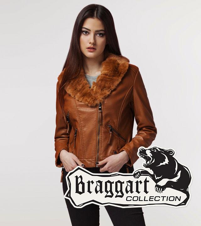 Braggart Youth   Куртка женская весна-осень 25623 коричневая