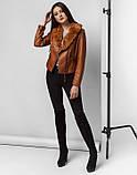 Braggart Youth   Куртка женская весна-осень 25623 коричневая, фото 2