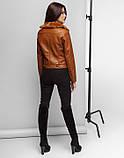 Braggart Youth   Куртка женская весна-осень 25623 коричневая, фото 4